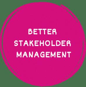 Better stakeholder management