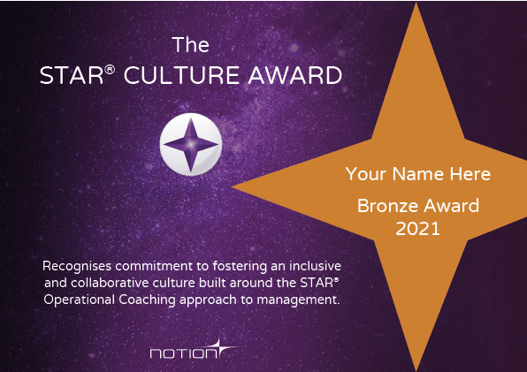 STAR Culture Award Bronze 2021_Award